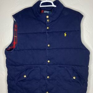 POLO RALPH LAUREN Puffer Flannel Lined Vest.